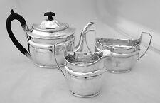 Robert, David and Samuel Hennell Sterling Silver Period Tea Set London 1801