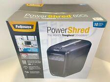 Fellowes Powershred 60cs 10 Sheet Cross Cut Paper Shredder 4606001 Brand New