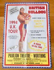 More details for wwe/wwf/wcw - british bulldog poster - british wrestling - worthing