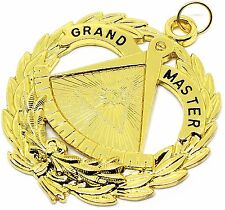 Grand Master Jewel Pendant Masonic Lodge Officer Chain Collar Freemasonr Regalia