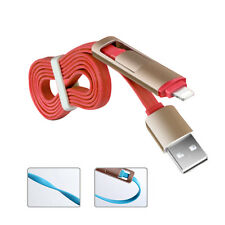 Red Micro USB Charging 2 in 1  Sync Data Charger Cable Cord For Samsung iPhone
