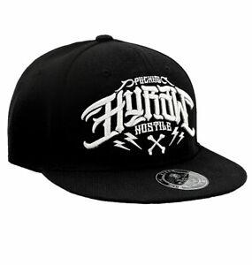 """HYRAW - Snap Back Cap """"Hostile"""" black (schwarz) - weiß bestickt"""