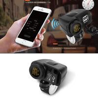Universal 12V ATV Motorrad USB Ladegerät 2.1A Digital Gelb LED Voltmeter GPS 1x
