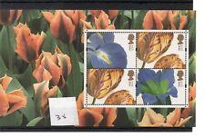 GB - PRESTIGE STAMP BOOKLET PANE (35) - Flowers 4 x 1st - unm.mint