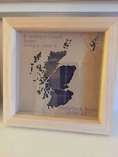 Personalised Scotland Map with Various Backgrounds in Box Frame Gift