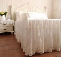 1pc Elegant & Romantic Ivory Two Layers Lace Nice Cotton Matching Bed Skirt1404