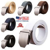 Men's Metal Buckle Canvas Webbed Belt