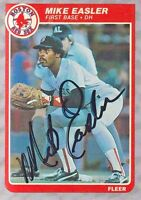 Mike Easler Autograph 1985 Fleer #157 Red Sox Signed DH