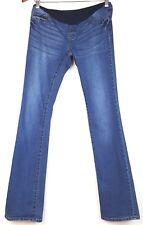 S.O.N.G Song Maternity Pants Womens Sz Medium Jeans Slim Boot Cut Stretch Panel