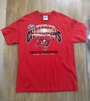 Tampa Bay Buccaneers L Superbowl XXXVII Champions Tee Shirt Size Large
