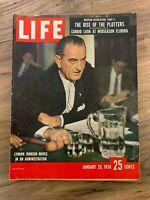 LIFE MAGAZINE January 20th 1958 Lyndon Johnson // great ads