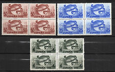 España : 1949 Edifil 1063/65 LXXV Aniversario UPU ( Bloque de 4 ) MNH