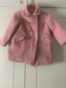 Bonpoint Pink Coat 4 Years Wool / Mohair Mix