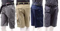 Wear First Comfort Flex Waist Free-Band 685 Legacy Mens Belted Cargo Shorts BNWT
