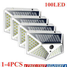 100LEDs Solar Power PIR Motion Sensor Wall Light Outdoor Garden Lamp Waterproof~
