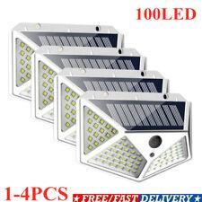 100 LED Energía Solar Sensor De Movimiento Infrarrojo Pasivo Luz De Pared Lámpara De Jardín Lámpara Exterior Impermeable ~