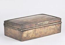 Antique Sterling Silver Cigar box , 688g