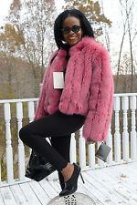 New Designer Bloomingdale's Pink fox Fur Coat Bolero jacket  Stroller Szs 6 or 8