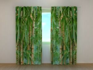 Window Curtain Bamboo Forest Wellmira Ready Made 3D printed Nature Bedroom