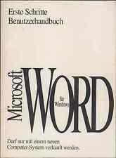 Benutzerhandbücher Microsoft Word für Windows