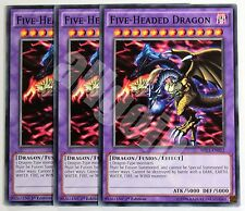 MIL1-EN012 3x FIVE-HEADED DRAGON (Drago a Cinque Teste) Common Yugioh