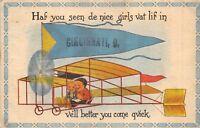 Cincinnati Ohio 1913 Comic Postcard Dutch Boys in Airplane Posted Athens Ohio
