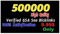 500,000 GSA SER SEO Backlinks Faster Index on Google High Quality Service