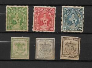 1862  VENEZUELA STAMPS  SCT 7,8,9  1914, SCT 256-257-258- MNG-NG
