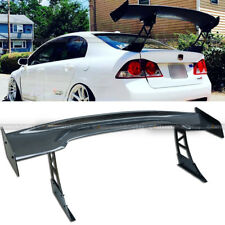 """For 240SX 57"""" GT Carbon Fiber Down Force Ultrawide Tall Stand Trunk Spoiler Wing"""