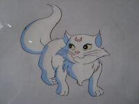 Sailor Moon Fox Animation Never produced Rare Art Cel Luna Cat #1 toon makers