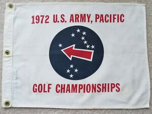 Vintage 1972 U.S. Army, Pacific Golf Championships Flag from Standard Golf Mfg.