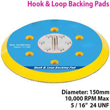 """6"""" (150 mm) Action Double Hook & Loop Backing Pad – Orbital Sablage/POLONAIS Disque Plaque"""