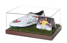 Ronaldo Signed Football Boot Display Case Brazil Autograph Soccer Memorabilia