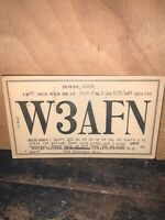 VINTAGE  HAM RADIO QSL CARD, Collingswood New Jersey 1934.