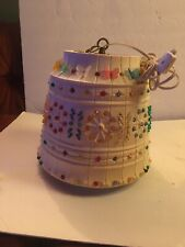 Vintage Lawnware Hanging Light Lamp RV Patio Camping Retro Butterly Flower Beads