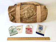 Foreigner 1978 Double Vision Tour Crew Duffle Bag Gym 1st At The Forum Vintage