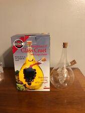 "Norpro 795 Hand Blown 8"" Glass Olive Oil Vinegar Cruet with Grape Cluster"