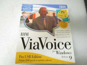 IBM ViaVoice for Windows Release 9 Pro USB Edition Speech Recognition - Sealed