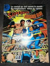 Superman contre Cassius Clay Mohammed Ali collection de l'avenir rare vintage