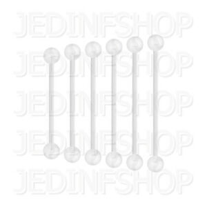 Retainer Hider - Industrial Bar   1.2mm (16g) - 25mm   BioFlex - Balls Spikes