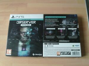 Observer System Redux Day One Special Edition Ps5 New&Sealed
