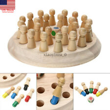 Wooden Memory Match Stick Chess Game Children Kids Puzzle Educational Toys US