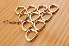 d ring d-rings purse ring Webbing Strapping metal gold 1/2 inch 18 pcs U176