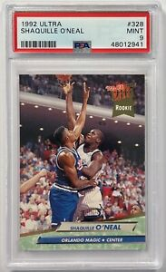 1992 FLEER ULTRA SHAQUILLE O'NEAL RC ROOKIE #328 PSA 9 MINT