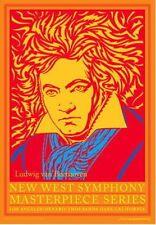"Ludwig Van Beethoven HANDBILL New West Symphony John Van Hamersveld 5"" X 7"" Inch"