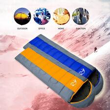 3 Season Adult Waterproof Envelope Sleeping Bag Camping Hiking Suit Case Zip Grey & Blue(4 Season) 50 Pcs