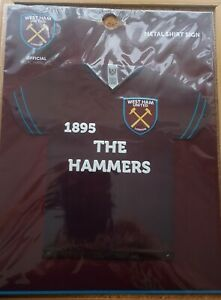 Official West Ham United FC Metal 3D Shirt Sign (The Hammers)- FREE POSTAGE!