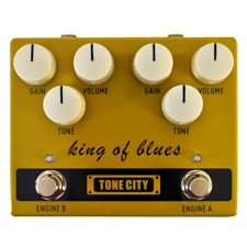King of Blues Dual Channel  Overdrive from Tone City Fast, Fast U.S. Shipping!