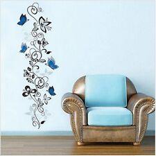 Dekoration für Schlafzimmer wandtatoo Blumen Schmetterlinge Ornament Aufkleber
