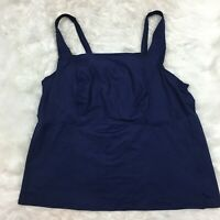 Lands End Women's Navy Blue Tankini Swim Suit Top Plus Size 20W